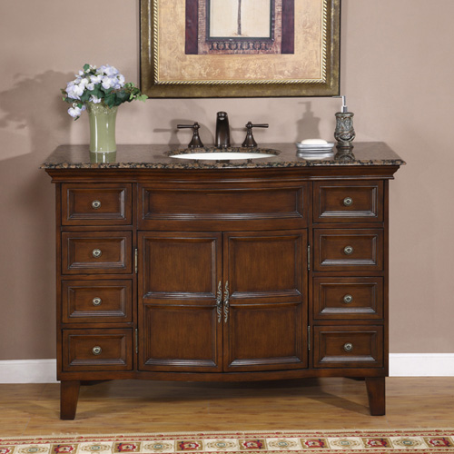 "48"" Paciano Single Bath Vanity - with Baltic Brown Granite Top"