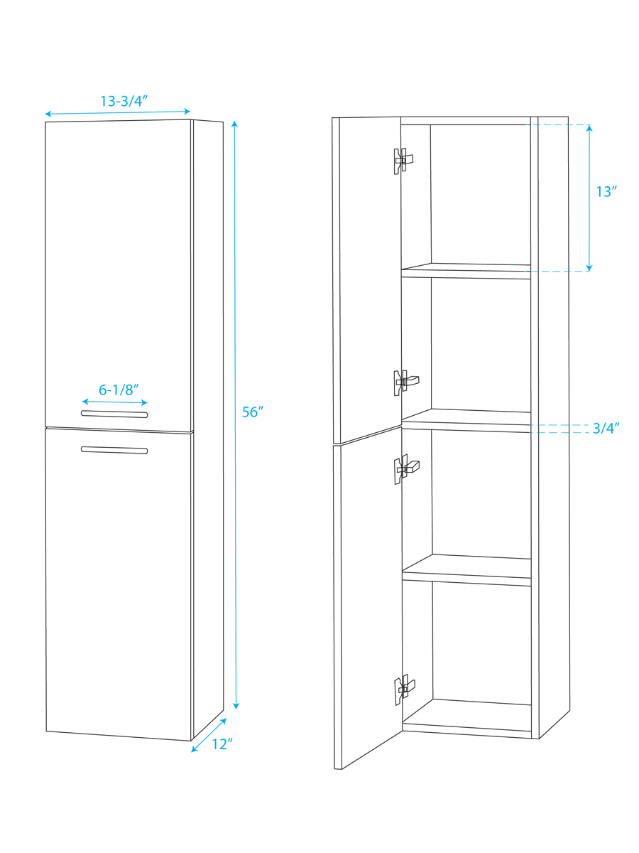 Optional Wall Cabinet - Dimensions