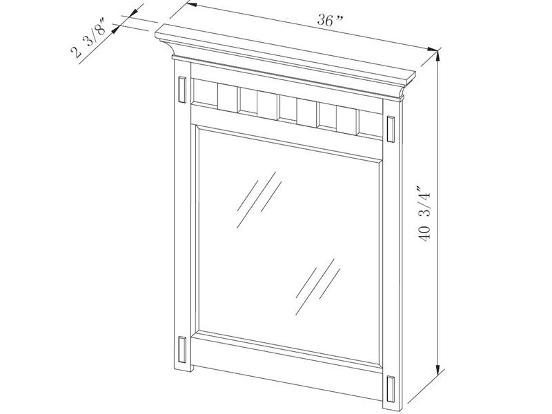 "Bathroom Mirror Dimensions 48"" american craftsman single bath vanity - bathgems"