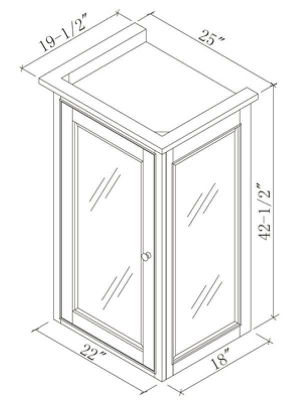 Optional Linen Cabinet (Hutch) - Base