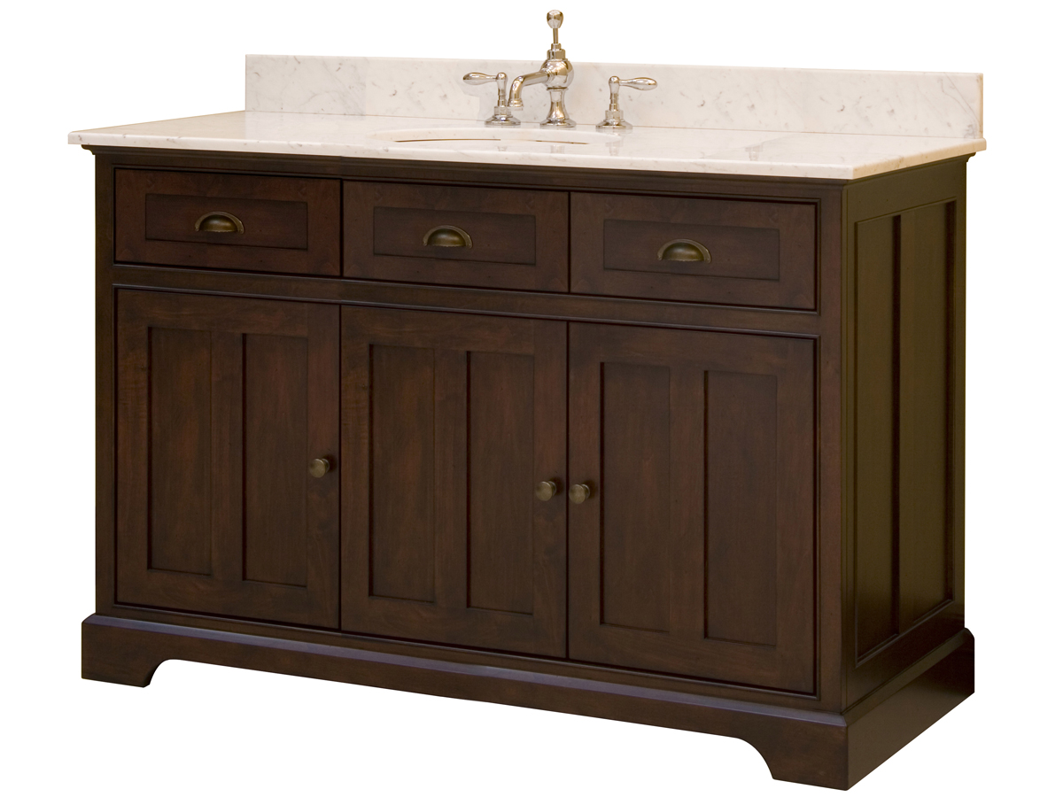 """48"""" Somerset Single Vanity - shown with optional marble top"""