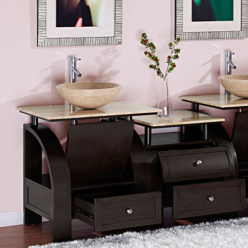 "30"" Cali Vessel Sink Vanity with Optional Drawer Bank"