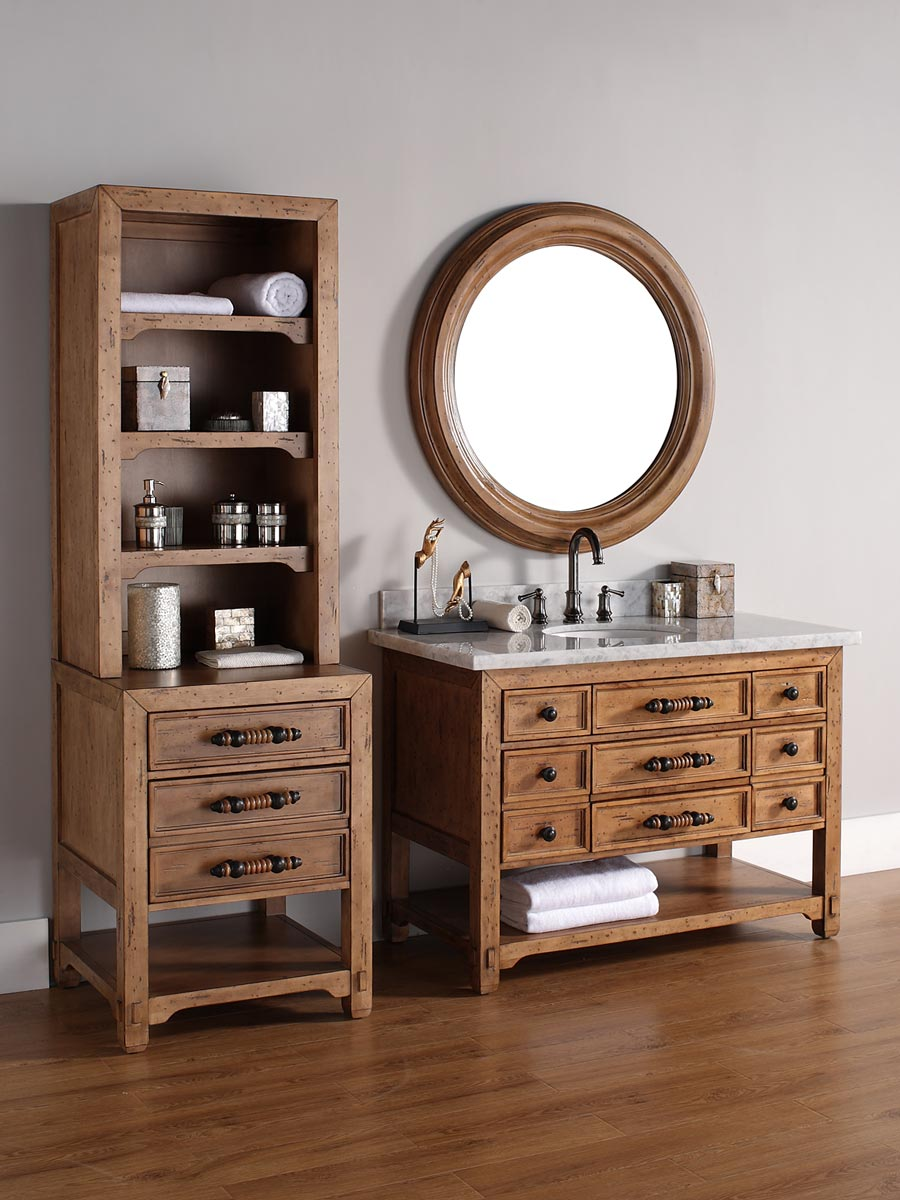 "Optional Linen Cabinet (Shown with 48"" Malibu Vanity)"