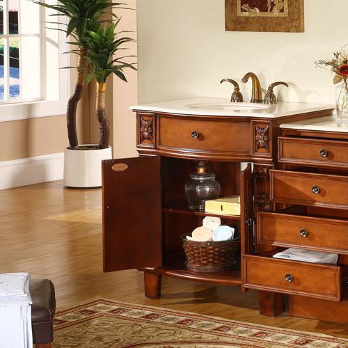 Vanity with Optional Drawer Bank