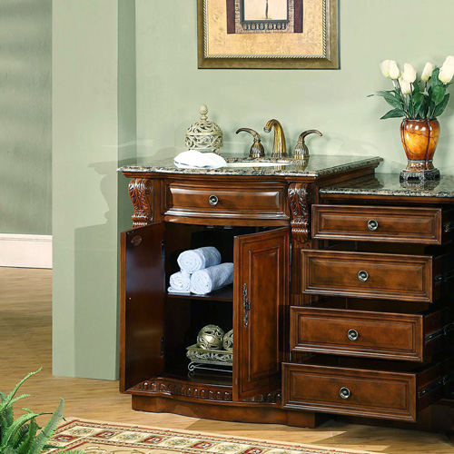 Vanity with optional drawer bank