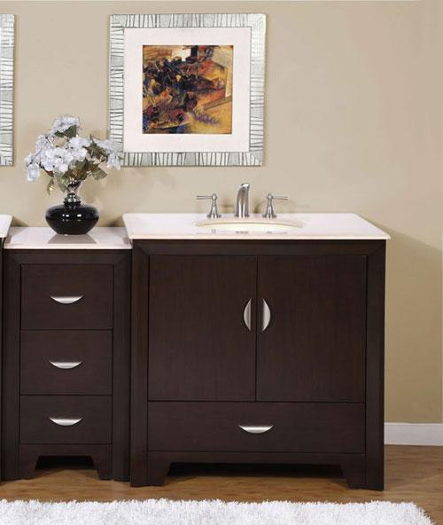 "36"" Baris Single Vanity - with Optional Drawer Bank"