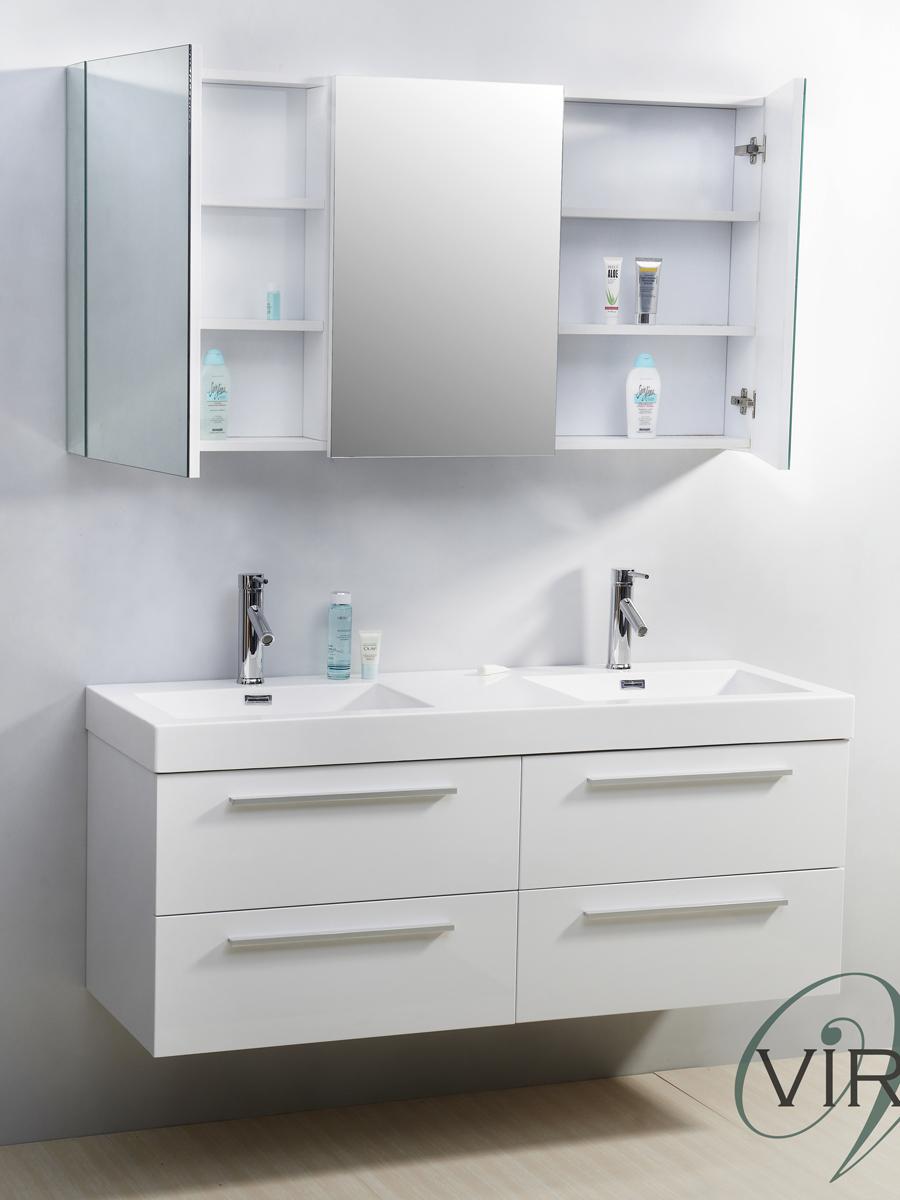 54 Quot Finley Double Sink Vanity White Bathgems Com