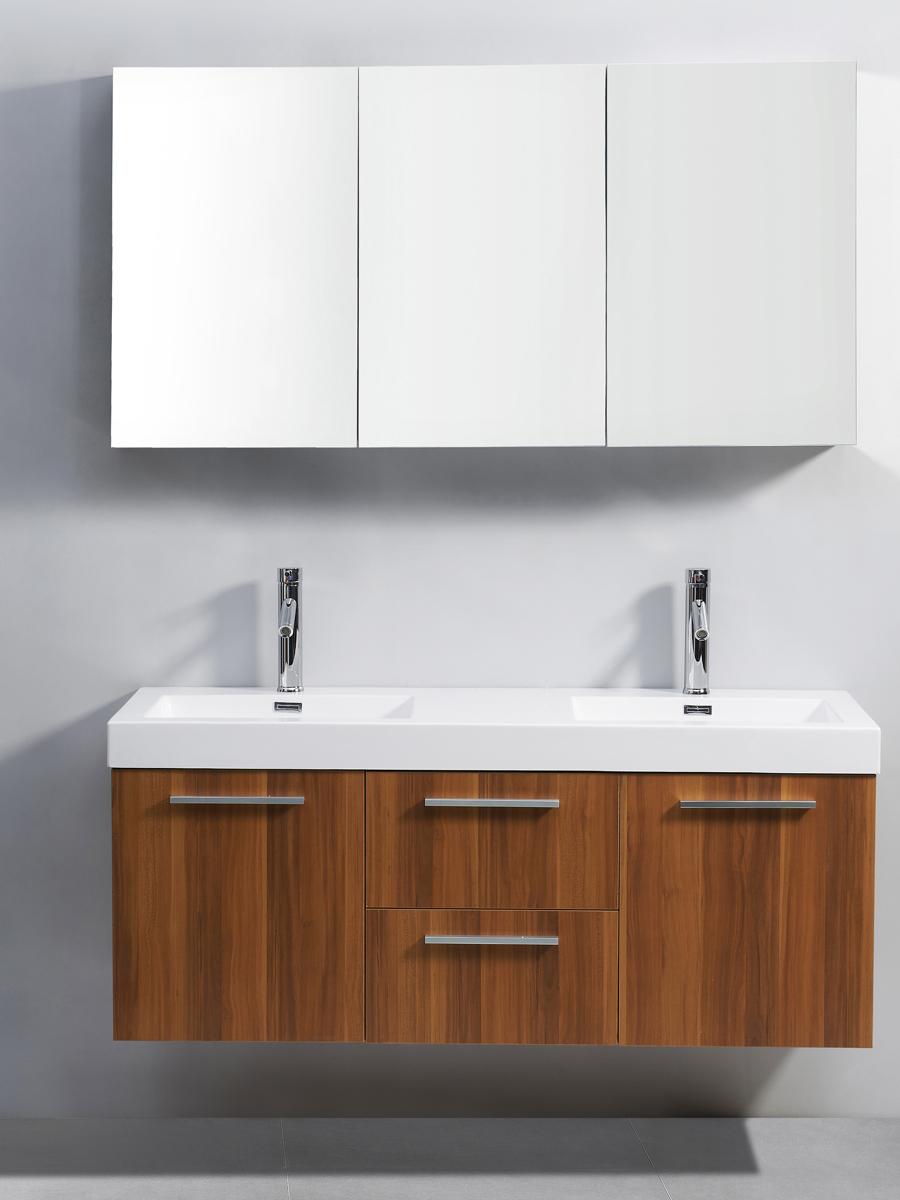 """54"""" Midori Double Sink Vanity in Plum"""