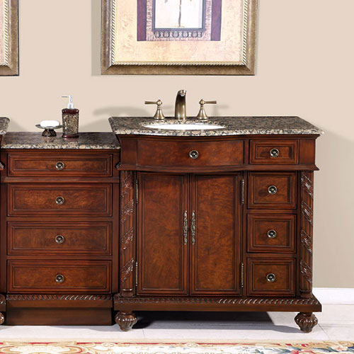 Shown with Optional Drawer Bank - with Baltic Brown Granite Top