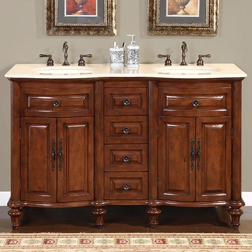 """55"""" Caronia Double Bath Vanity"""