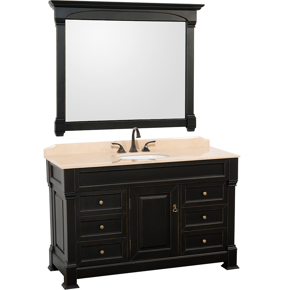 55 Andover Single Bath Vanity Black