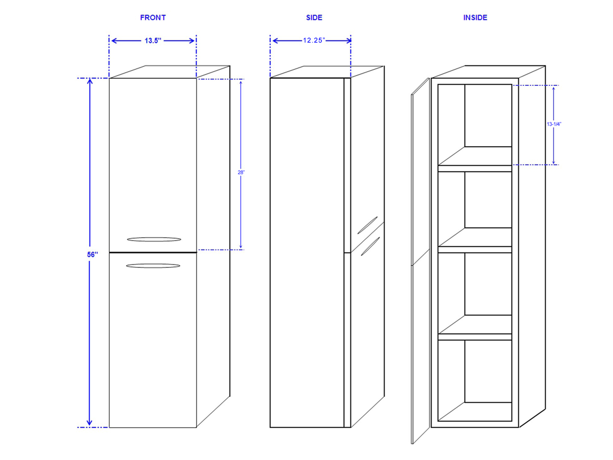 Accara Side Cabinet - Dimensions