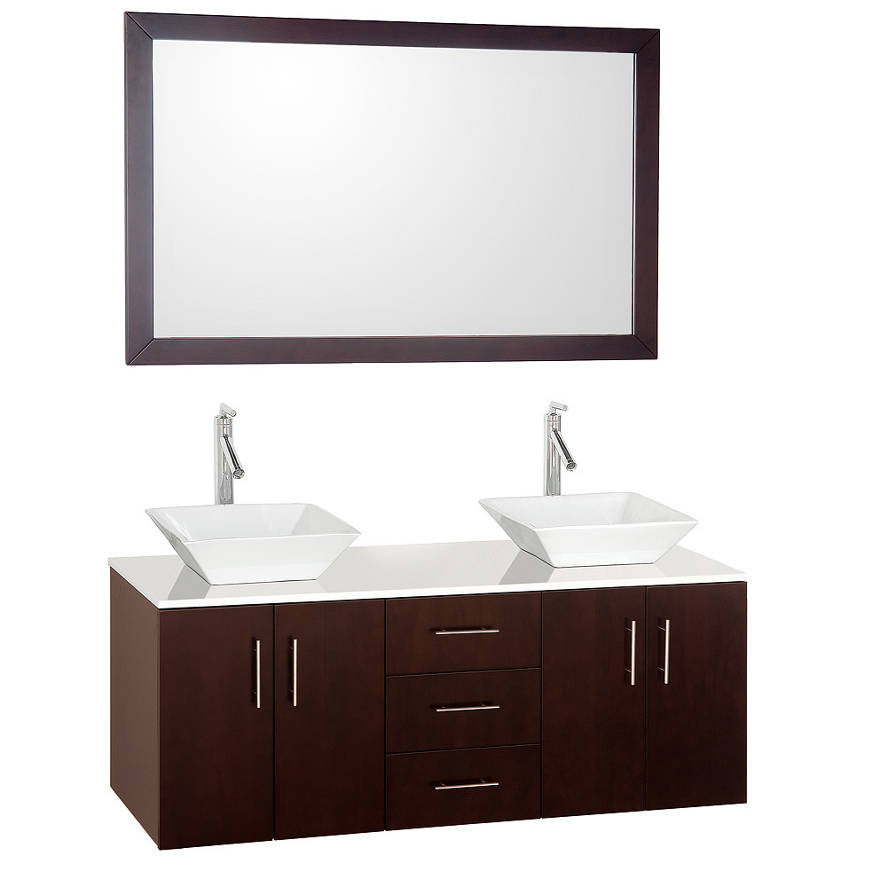 Shown with White Porcelain Sinks