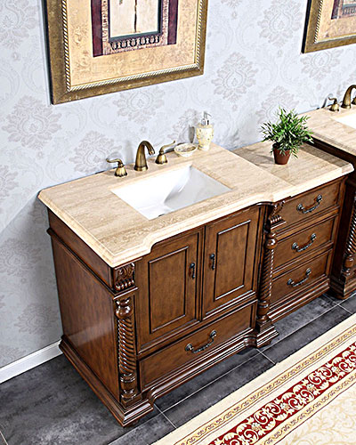 "36"" to 57"" Sidonius Single Bath Vanity with optional Drawer Bank"
