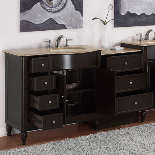 Vanity with optional drawer bank (second vanity not included)