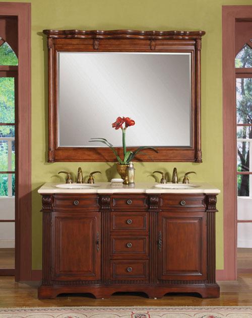"""58"""" Myras Double Vanity - with optional mirror"""