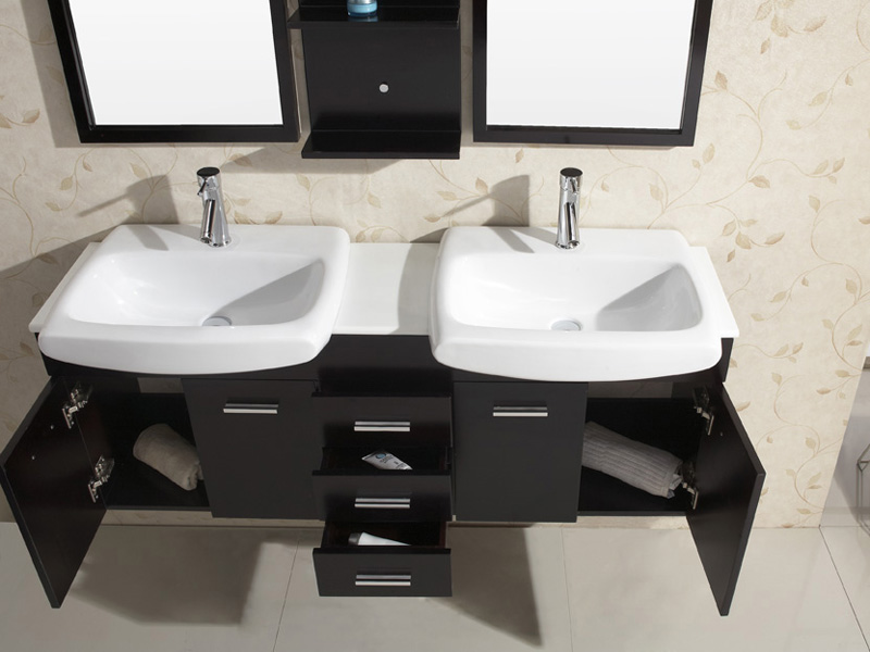 Artificial Stone Top with Ceramic Sinks