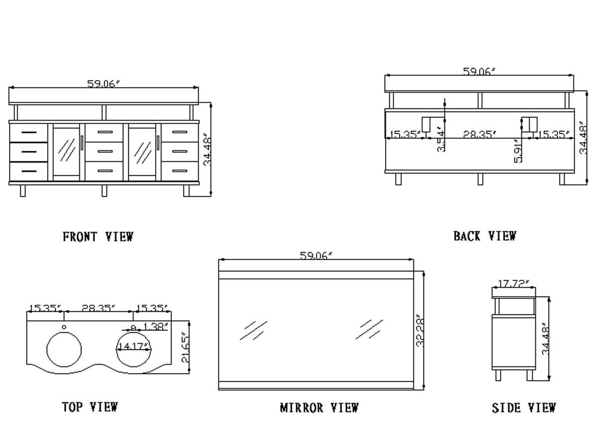 vincente rocco double sink vanity. Black Bedroom Furniture Sets. Home Design Ideas