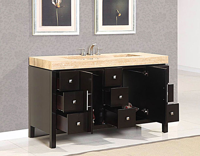 60 Quot Carmelius Single Bath Vanity Bathgems Com