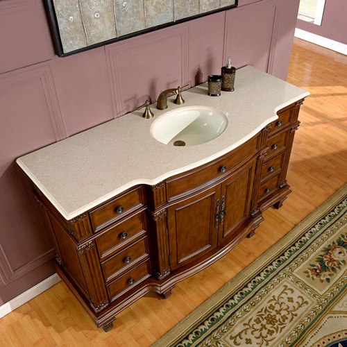 Shown With Cream Marfil Marble Top