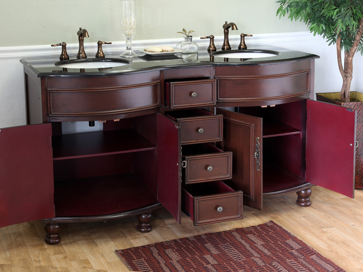 Double-Door Cabinets And Four Drawers