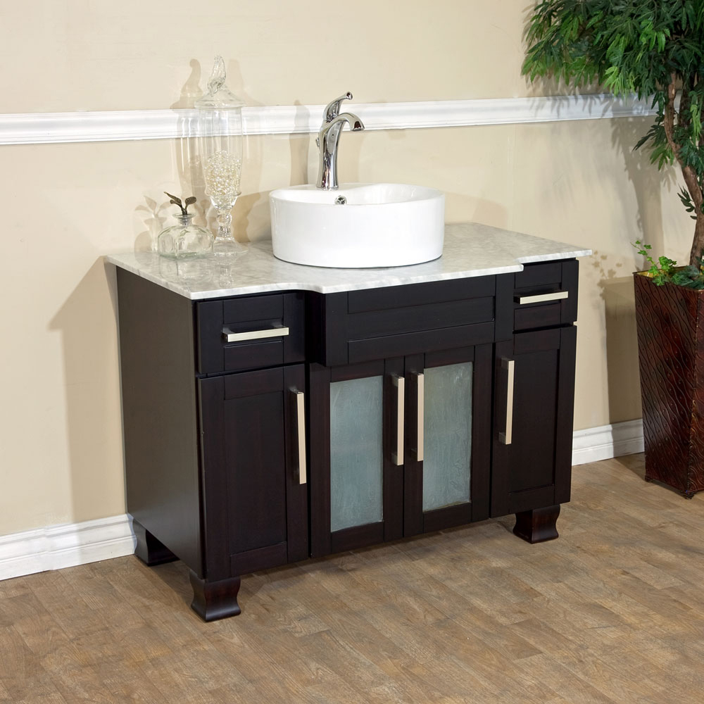 "40"" Canete Single Vessel Sink Vanity - Shown With Sink A"