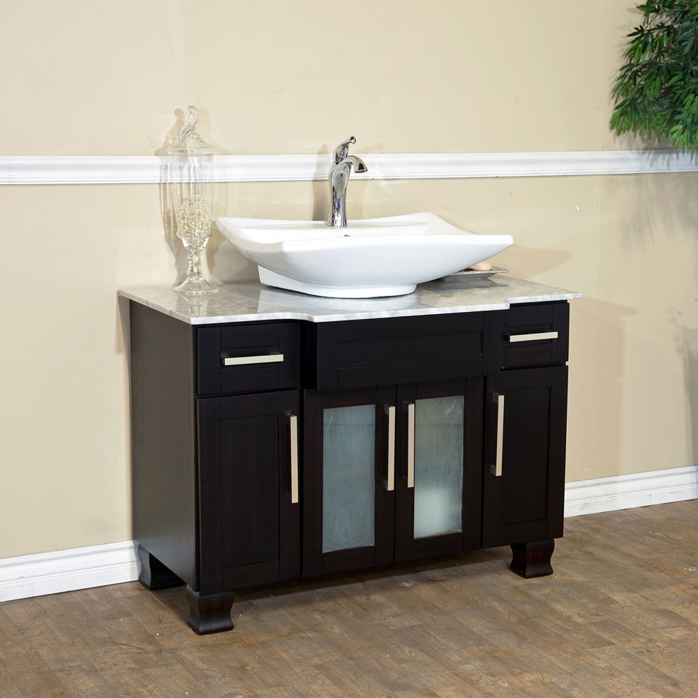 "40"" Canete Single Vessel Sink Vanity - Shown With Sink B"