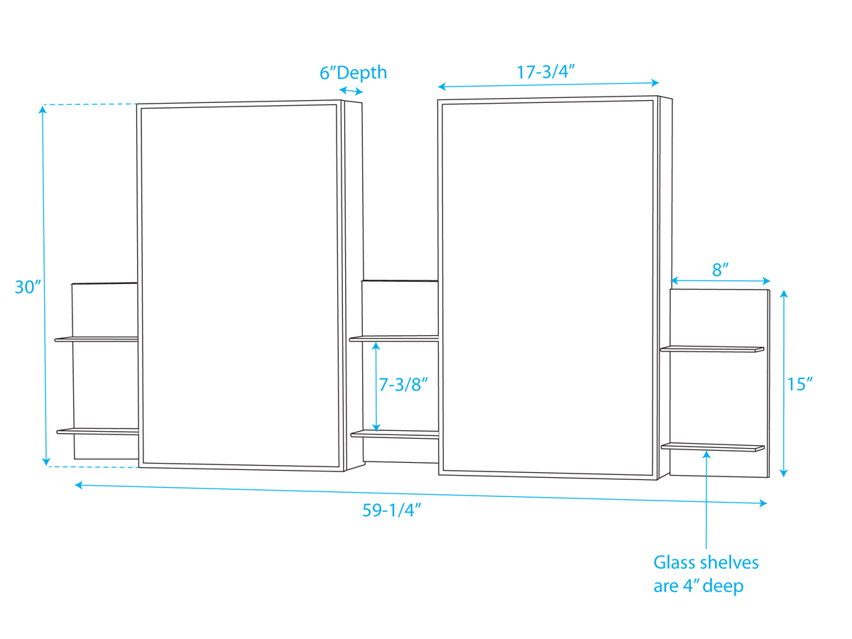 Optional Medicine Cabinet - Dimensions