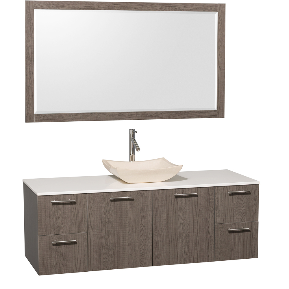 Artificial Stone Top - Shown with Ivory Marble Sink