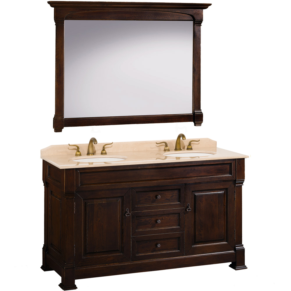 60 Andover Double Sink Vanity Dark Cherry