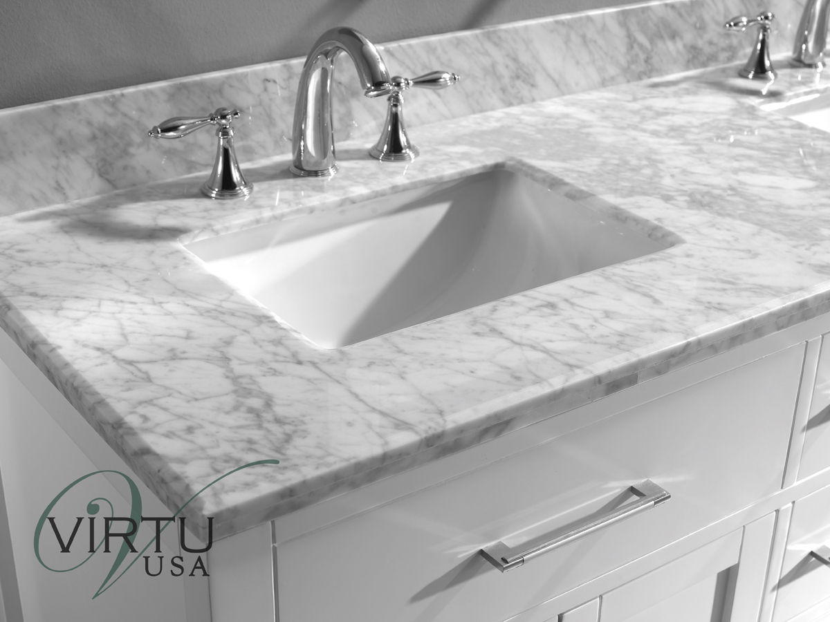 Italian Carrera White Marble Top