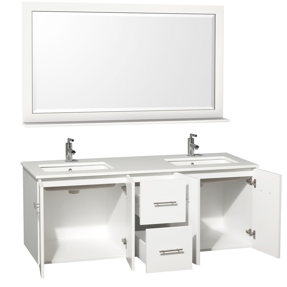 Two Double-Door Cabinets And Two Drawers
