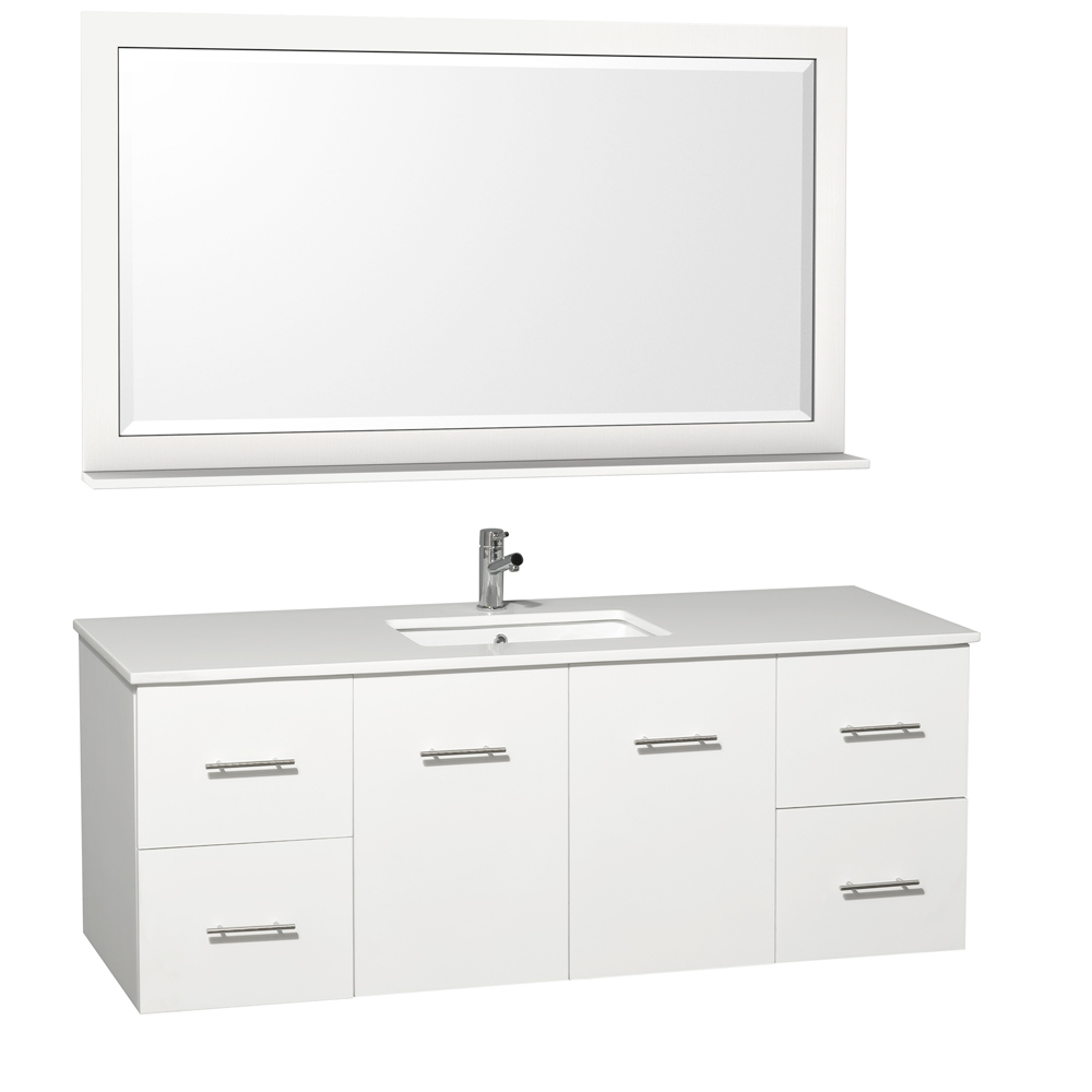 Shown With White Artificial Stone Top