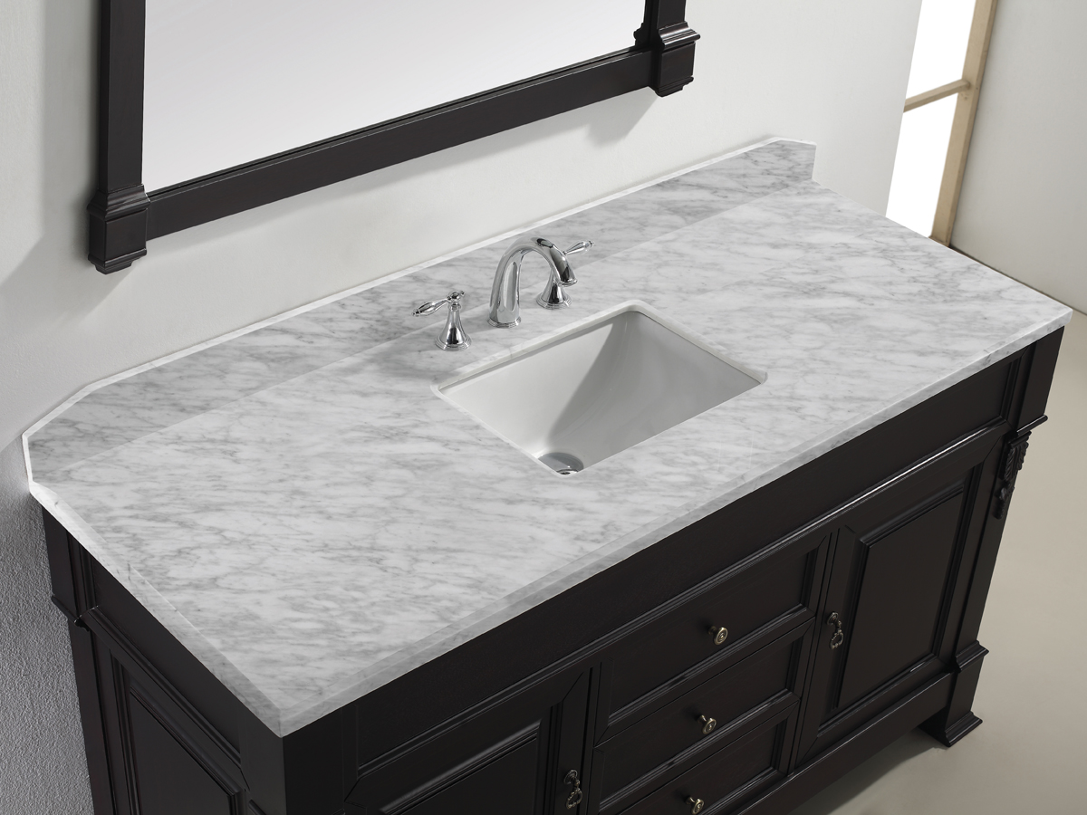 vanity and without size full also of as well conjunction in white top quartz marble carrera inch with together bathroom