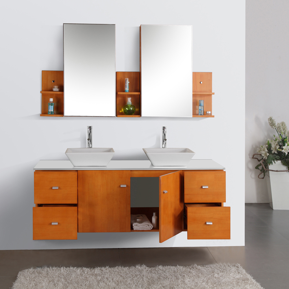 Features a double-door cabinet and 4 drawers