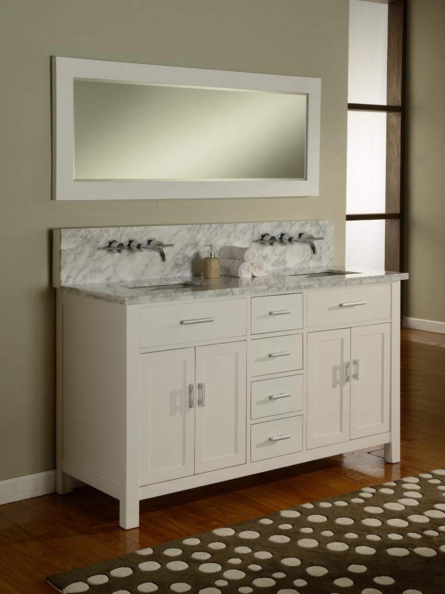 "62.5"" Winsted Double Vanity - White"