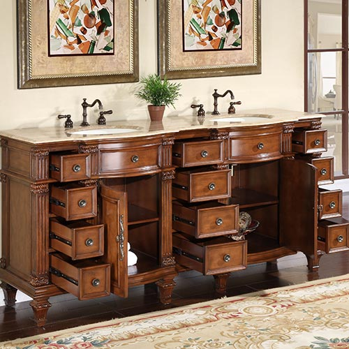 Two Single-Door Cabinets and Twelve Drawers