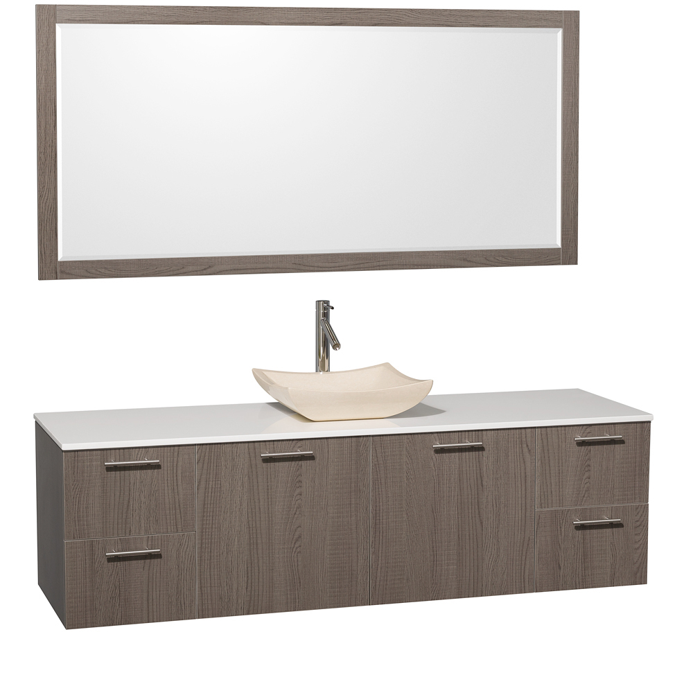 Artificial Stone Top - with Ivory Marble Sink