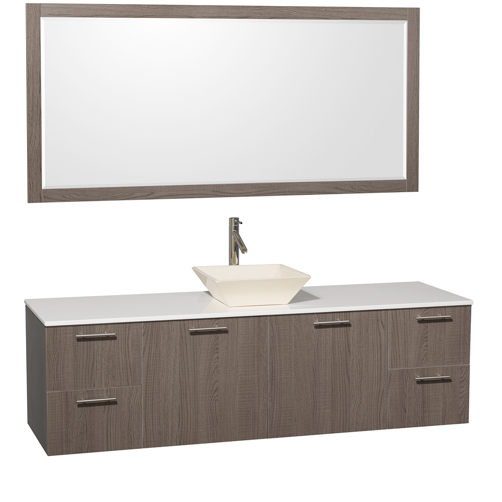 Artificial Stone Top - with Bone Porcelain Sink