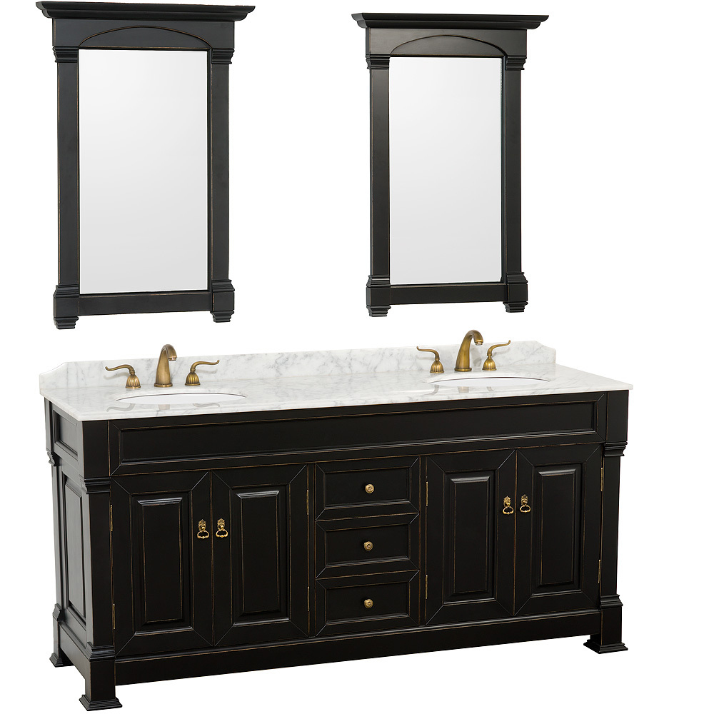 80 inch double sink bathroom vanity 80 quot andover sink vanity black bathgems 24810