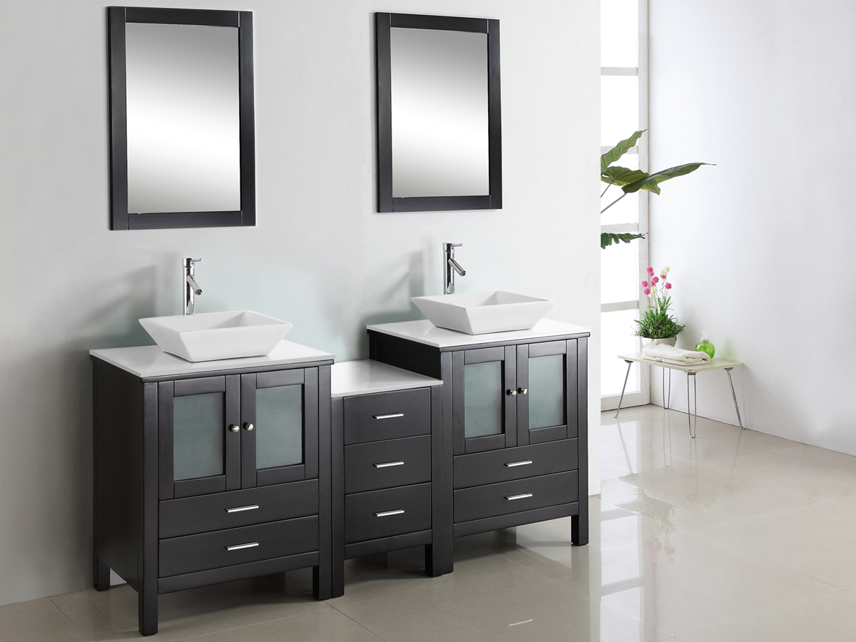 "72"" Brentford Double Vanity - with Artificial Stone top"