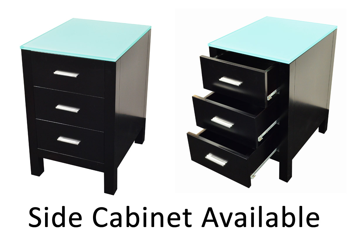 Optional side cabinet