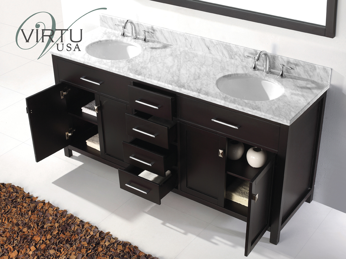 72 Quot Caroline Double Sink Vanity Espresso Bathgems Com