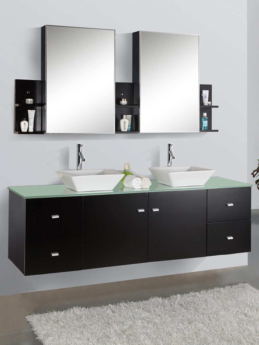 "72"" Clarissa Glass Double Vanity"