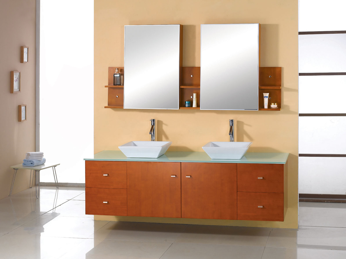 "72"" Clarissa Honey Oak Double Vanity"