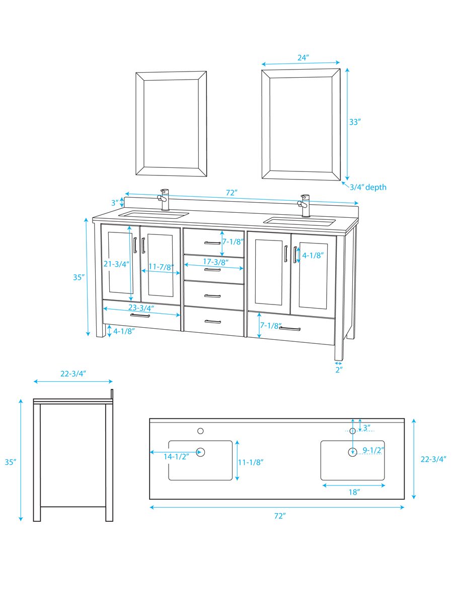 Gorgeous 10 bathroom sinks dimensions inspiration design for Bathroom cabinets measurements