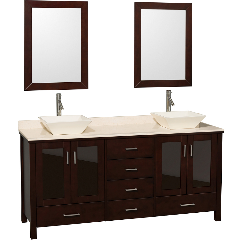 Shown With Ivory Marble Top And Bone Porcelain Sinks