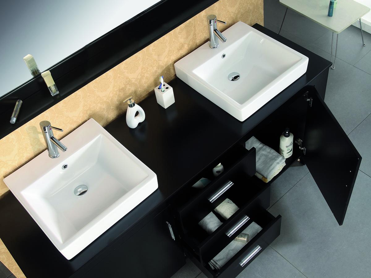 Includes 2 ceramic sinks