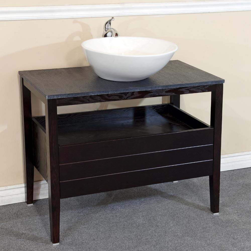 "35.5"" Ambracia Single Bath Vanity in Dark Mahogany"