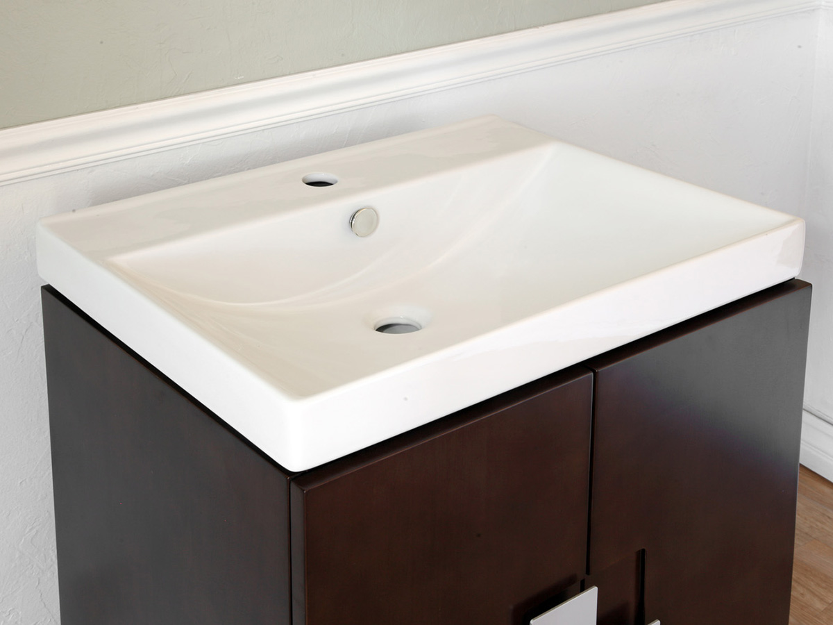 Vitreous China Integrated Sink Top